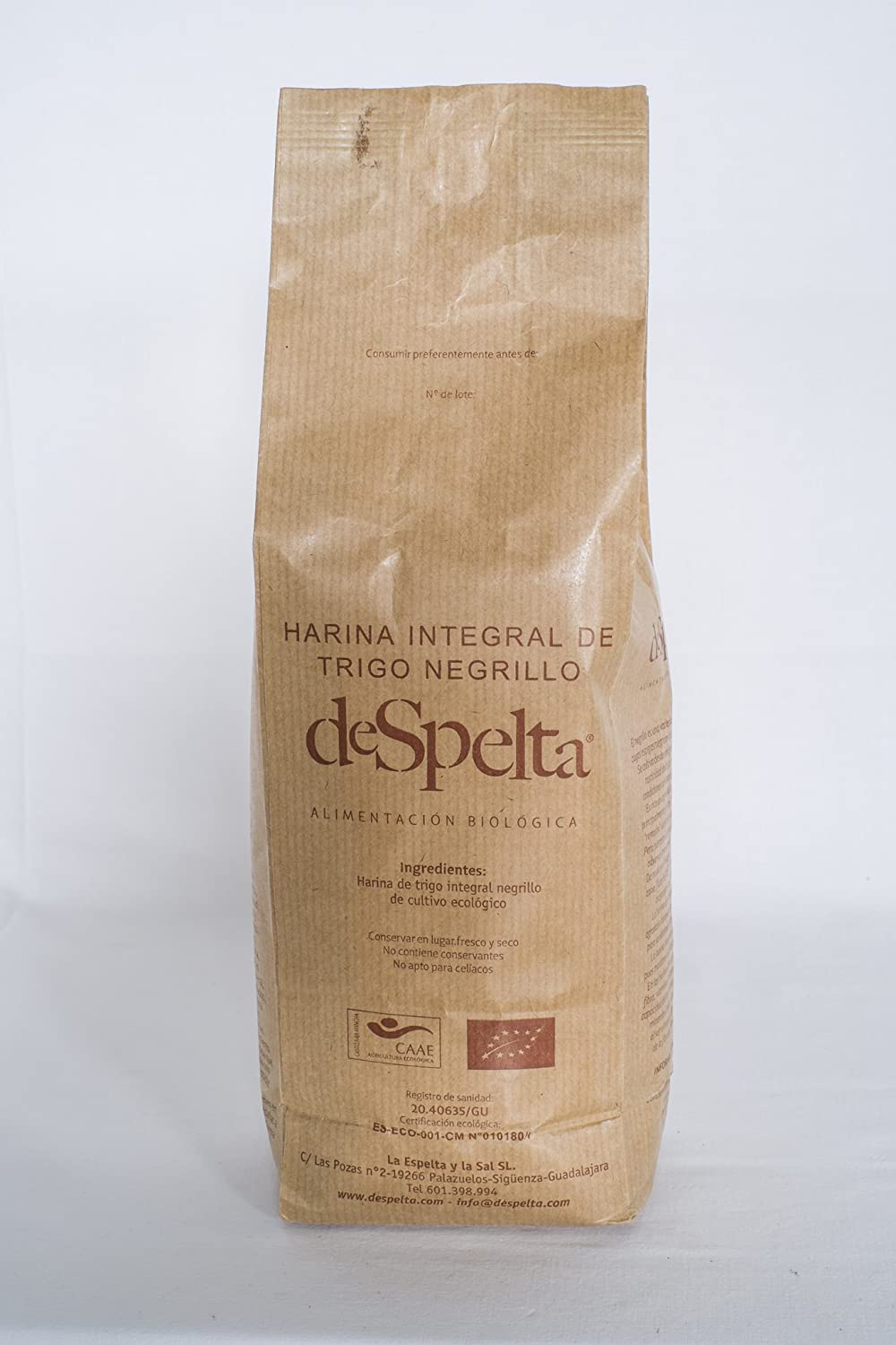 DeSpelta Harina Integral de Trigo Negrillo 1kg: Amazon.es ...