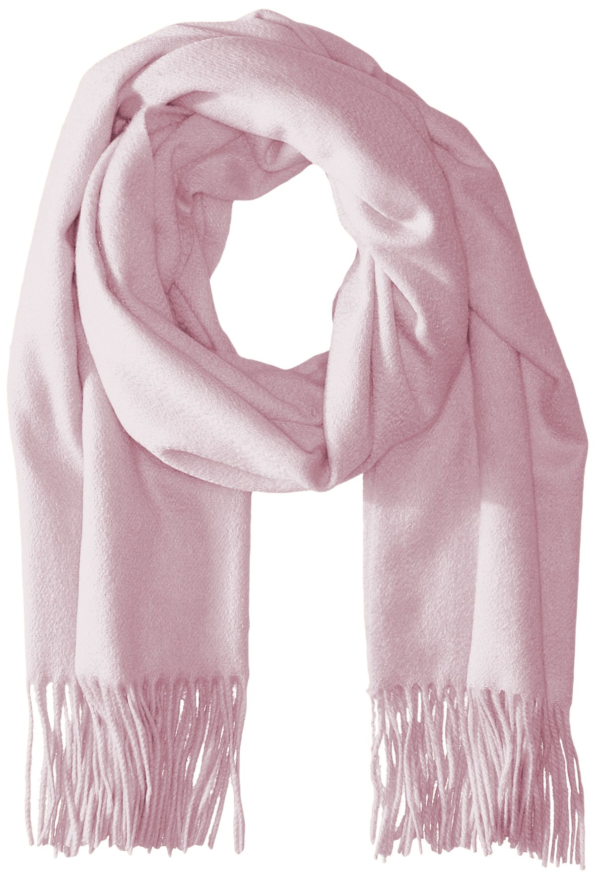 Sofia Cashmere Women's 100 Percent Cashmere Fringed Stole Scarf, Pale Pink, One Size