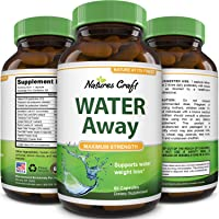 Natural Water Pills - Reduce Excess Water - Weight Loss Appetite Suppressant Benefits...