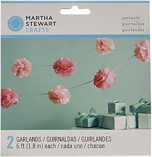 Amazon martha stewart crafts vintage girl tissue paper flowers martha stewart crafts garland pink pom pom small mightylinksfo