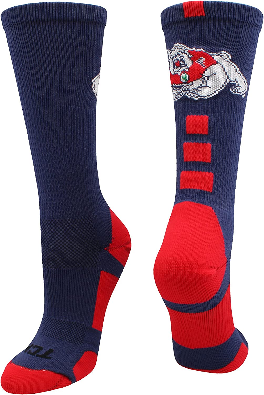 TCK Fresno State Bulldogs Socks Baseline Crew