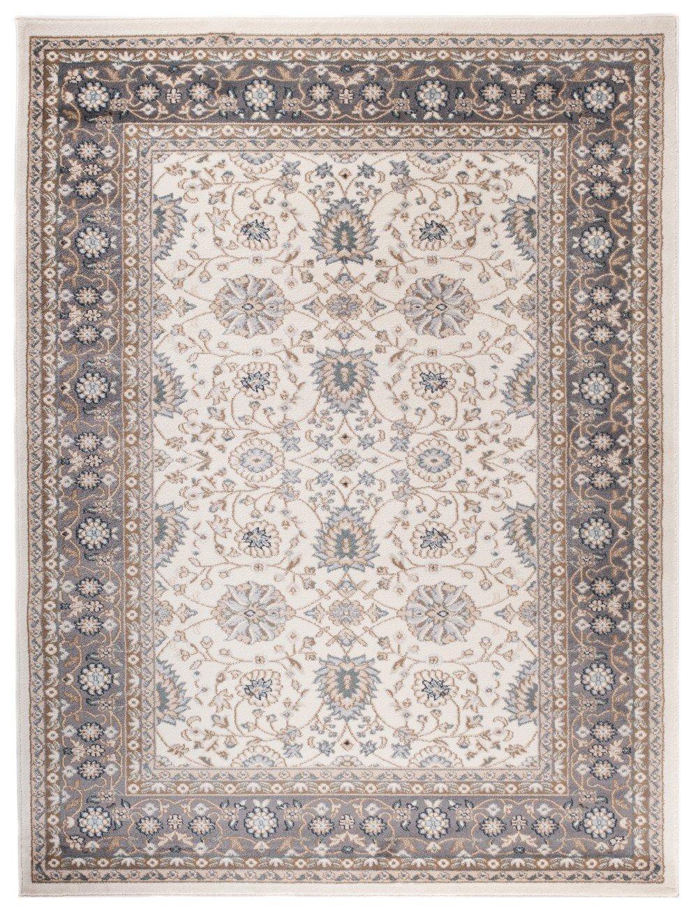Carpeto Klassischer Orientalisch Teppich Klassik Design in Weiß Weiss - Sehr Dicht Gewebt (300 x 400 cm)