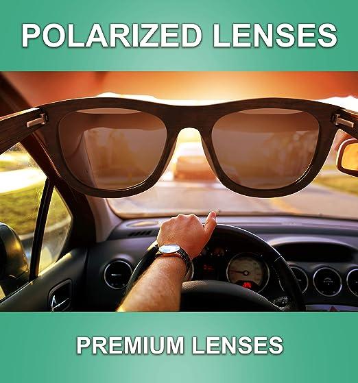 Amazon.com: Gafas de sol de madera polarizadas para hombres ...