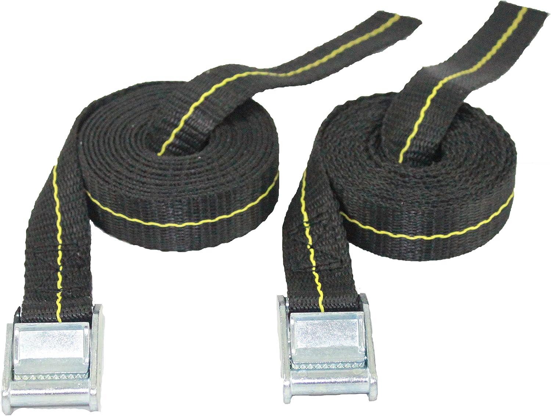 Cajun Tie Downs Correas de sujeción para Kayak, Tabla de Surf de Remo, Correas de Amarre, portaequipajes, 2 Unidades, Fabricado en Estados Unidos