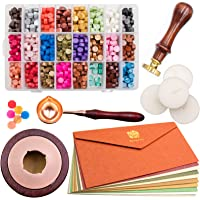 Waycreat Wax Seal Kit, 744Pcs Octagon Sealing Wax Beads with Melting Furnace, Tree of Life Stamp, 10 Pcs High-Grade…