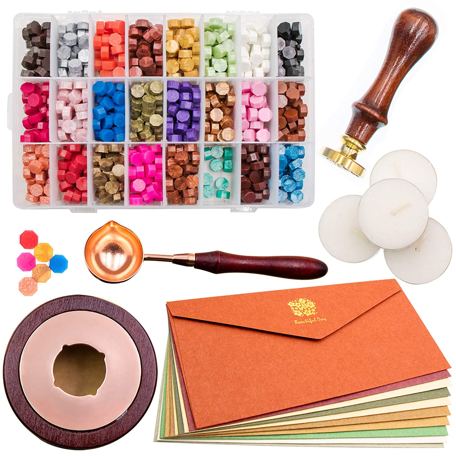 wax sealing beads 20pcs Bronze  wax beads for metal stamping wax stamps