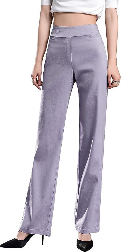 Pantalones Mujer De Vestir Elegantes Pantalones Elasticos Y Cintura Alta Pantalones Fluidos Pantalones Casual Comodo Elegantes Fiesta Negocios Yvelands Mujer Ciclismo