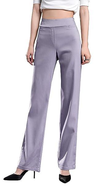 Amazon.com: Foucome - Pantalones de vestir para mujer con ...