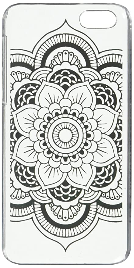 d87b561a8a Amazon.com: BlastCase iPhone 5C Case Clear Plastic Case Cover (Henna Full  Mandala tribal dream catcher mayan aztec): Cell Phones & Accessories