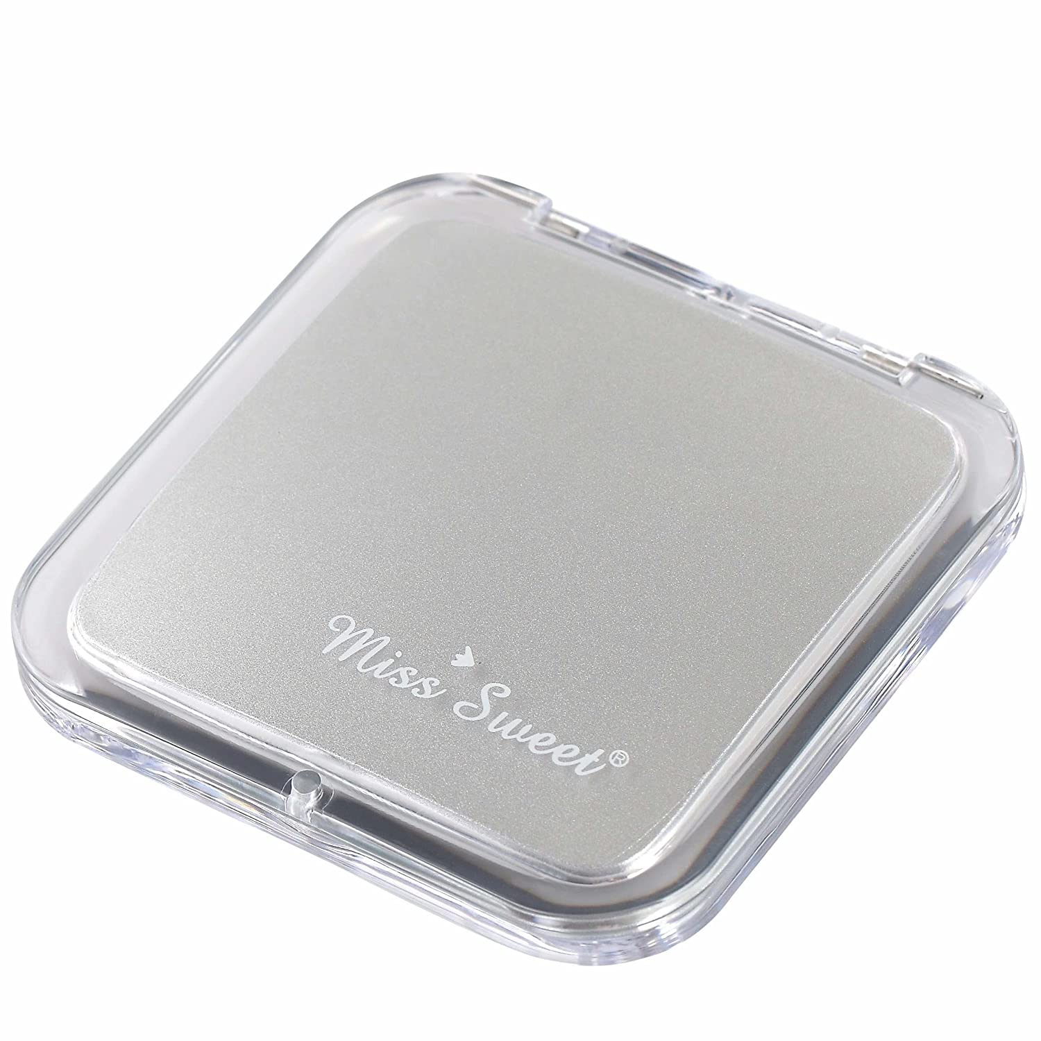 Miss Sweet Compact Mirror for Purse Pocket Mirror True image& 10X magnification (Black)