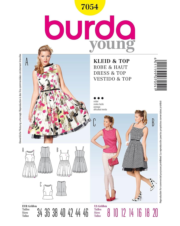 Burda Schnittmuster Retro-Kleid/Top/Rock: Amazon.de: Küche & Haushalt