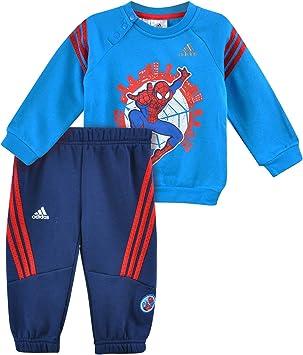 adidas Spiderman Crew Chándal para niños pequeños, Color Azul/Rojo ...