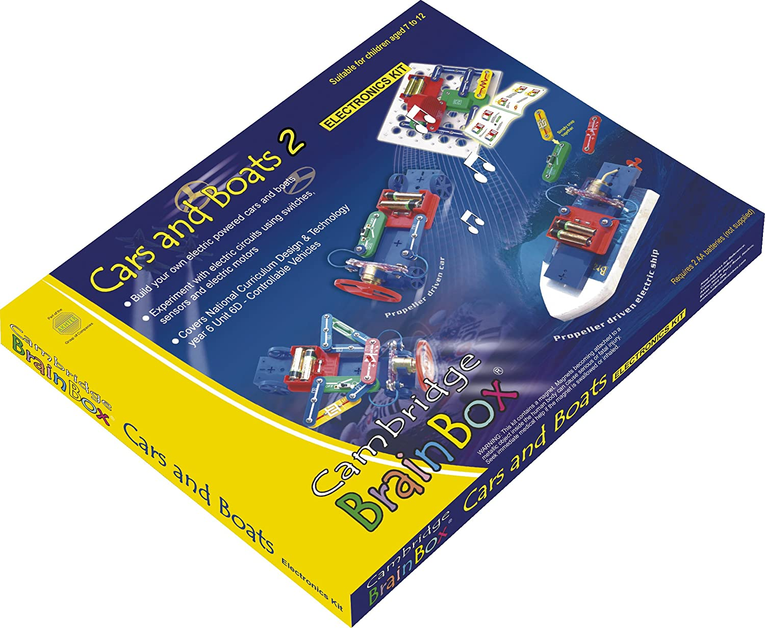 'Cars & Boats' Electronics and Science Construction Kit Cambridge Brainbox ELKT90000 Architecture