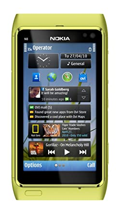 Nokia N8 Unlocked GSM Touchscreen Phone Featuring GPS with Voice Navigation  and 12 MP Camera (Green)