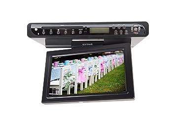 Visua 10.2u0026quot; Under Cabinet Flip Down Kitchen TV With DVD ...