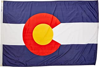 product image for Annin Flagmakers Model 140670 Colorado State Flag 4x6 ft. Nylon SolarGuard Nyl-Glo 100% Made in USA to Official State Design Specifications.