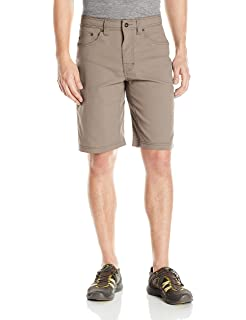 Water-Repellent Moisture-Wicking Shorts for Climbing and Everyday Wear Mens Brion Lightweight prAna 11 Inseam Charcoal 36