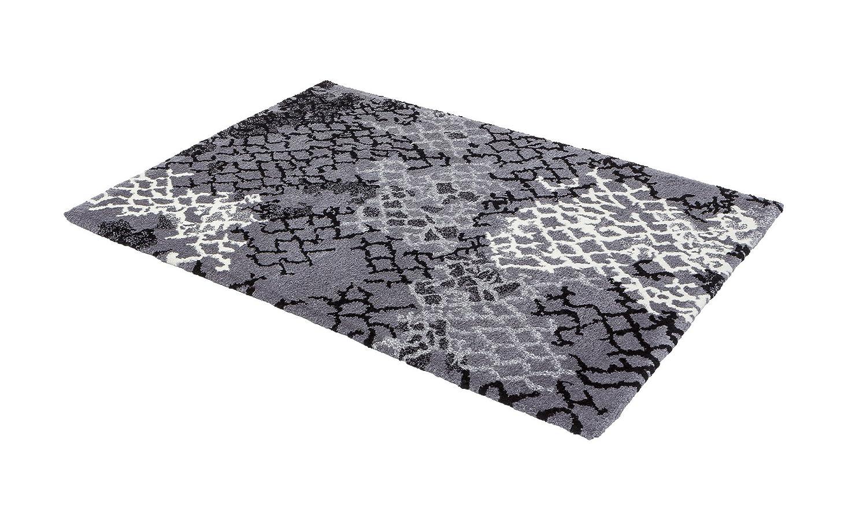 Astra Verona Teppich, Polyester, netz anthrazit, 80 x 150 x 2,5 cm