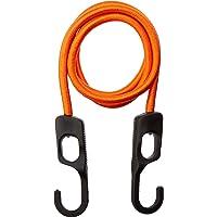 ProSource 0336917 - Cuerda elástica trenzada (9 mm de diámetro x 48 pulgadas de largo, gancho de plástico, extremo de gancho), color naranja