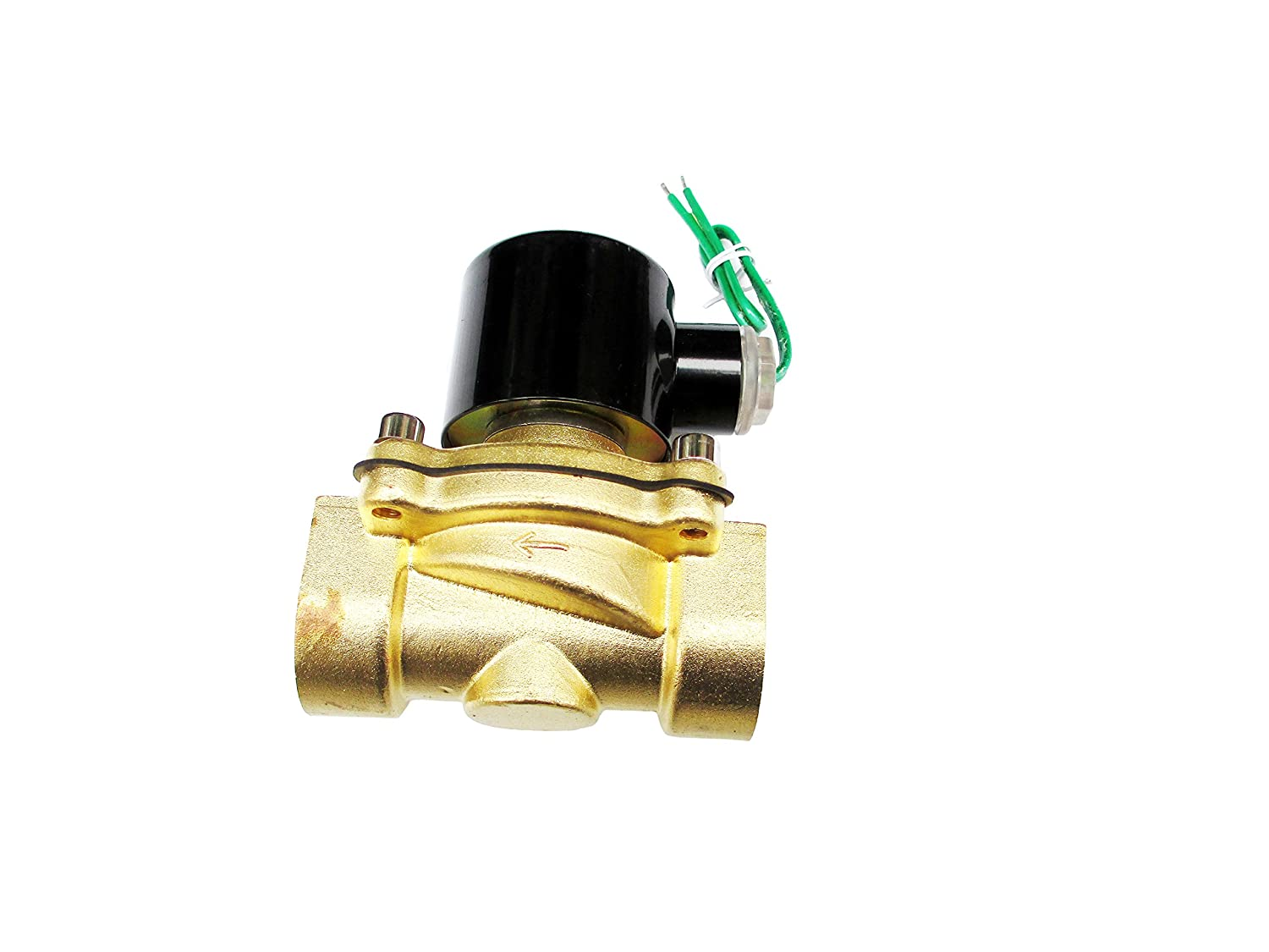 1 Inch Solenoid Valve 24VAC Brass Electric Air Water Gas Diesel Normally Closed NPT High Flow