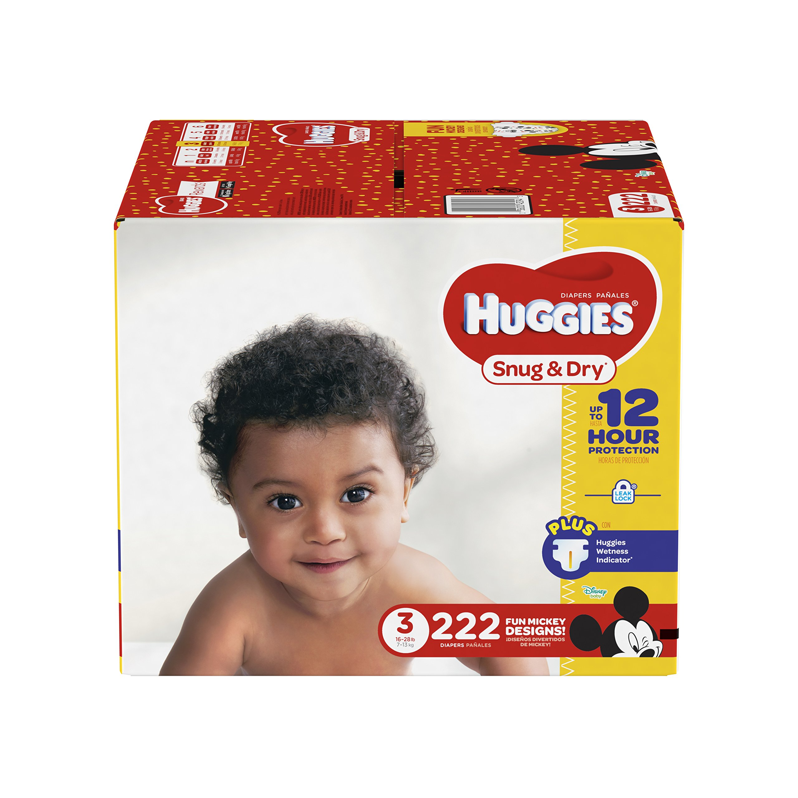 HUGGIES Snug & Dry Diapers, Size 3, for 16-28 lbs, One
