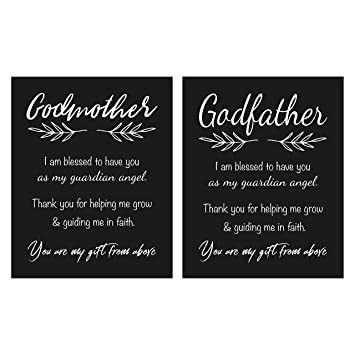Amazoncom Godmother And Godfather Gift Quote Chalkboard Inspired