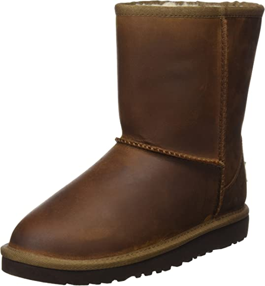 7a796619ba2 Amazon.com | UGG Australia Girls Classic Short Leather Boot Chestnut ...