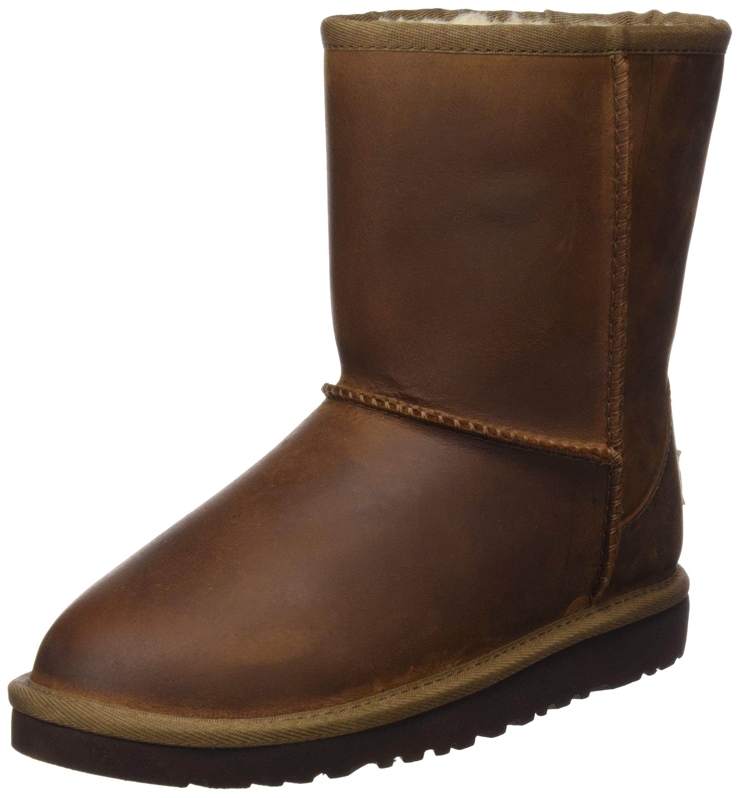 UGG Australia Girls Classic Short Leather Boot Chestnut Size 3