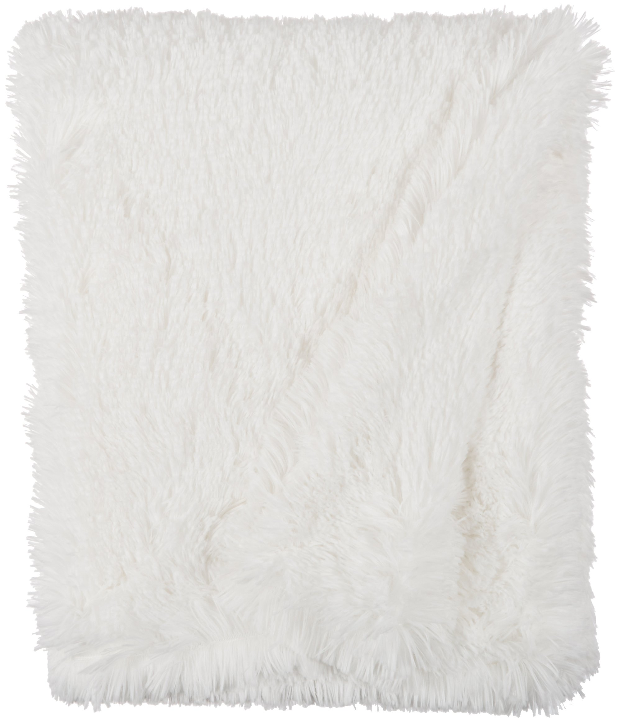 BESSIE AND BARNIE Snow White Luxury Shag Ultra Plush Faux Fur Pet, Dog, Cat, Puppy Super Soft Reversible Blanket (Multiple Sizes)