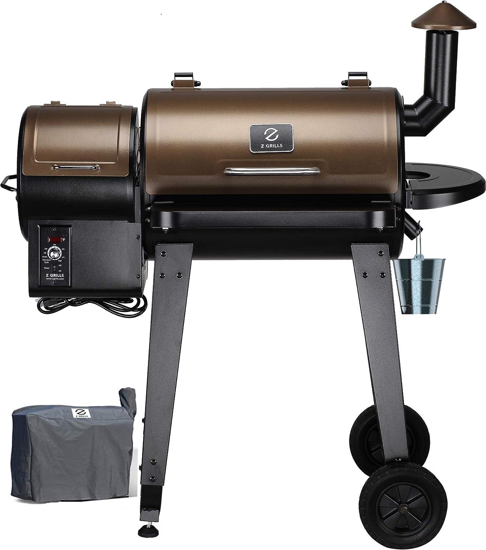 Z GRILLS 2019 Barbecue à granulés de Bois et fumoir avec Housse de Protection pour terrasse ZPG 450A
