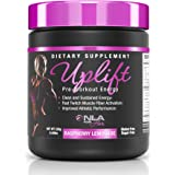 NLA for Her - Uplift - Pre-Workout Energy - Provides Clean/Sustained Energy, Supports Athletic Performance, Helps Fast Twitch Muscle Fiber Activation - Raspberry Lemonade - 220 Grams