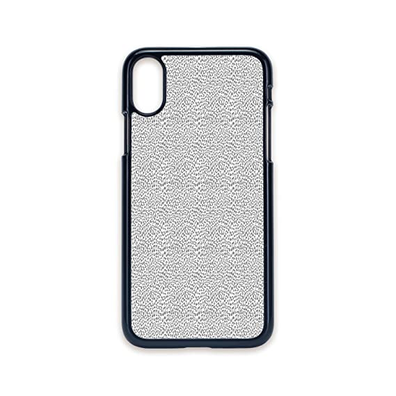 reputable site f390e 9269a Amazon.com: Phone Case Compatible with iPhone X 2D Print Black Edge ...