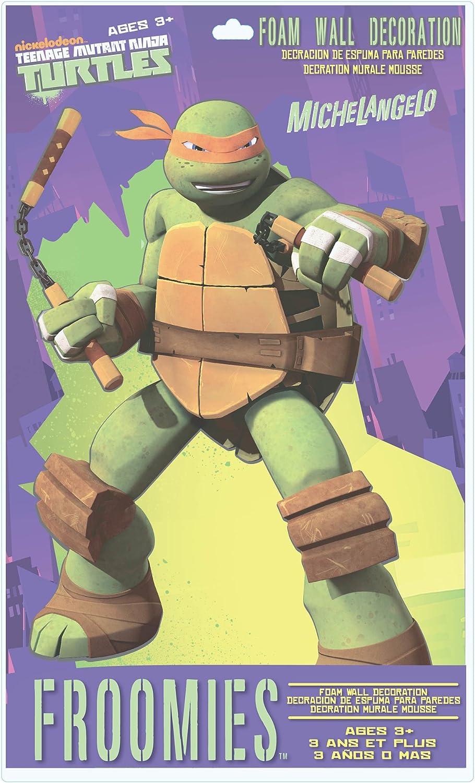 Teenage Mutant Ninja Turtles Michaelangelo Foam Wall Decoration, 18-Inch