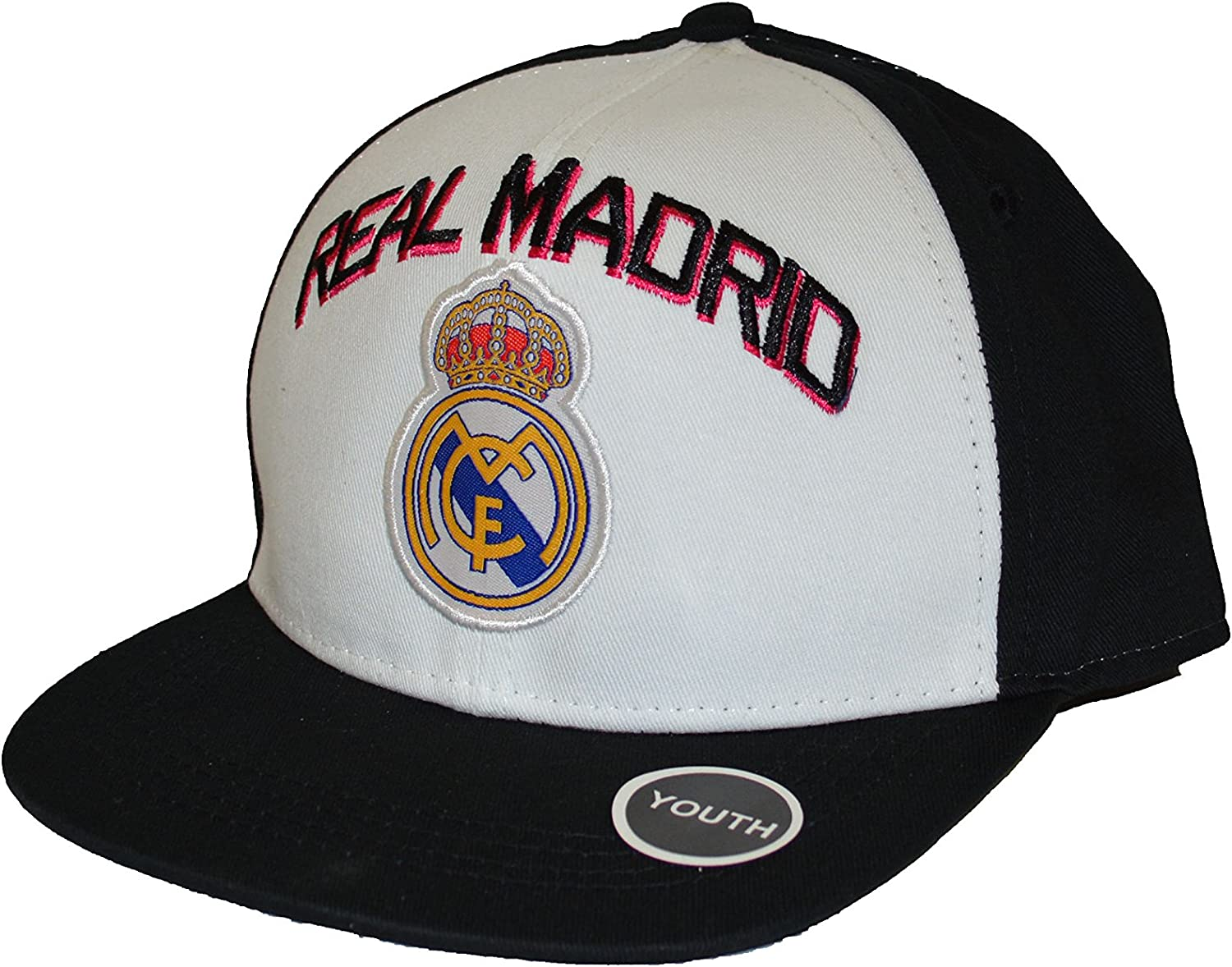 Real Madrid Fc Club Snapback Youth Kids Adjustable Cap Hat - White-Black New Season