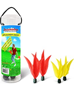 Funsparks Jazzminton Paddle Game Replacement or Extra Birdies for Any Wooden Paddles