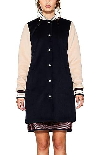 edc by ESPRIT 097cc1g028, Abrigo para Mujer, Azul (Navy 400), Large