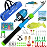 PLUSINNO Kids Fishing Pole, Portable Telescopic Fishing Rod and Reel Combo Kit with Fishing Practice Casting Plug and Spincas