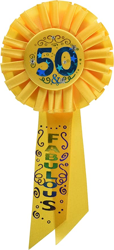 Beistle RS154 40 and Over-The-Hill Rosette 3-1//4-Inch by 6-1//2-Inch