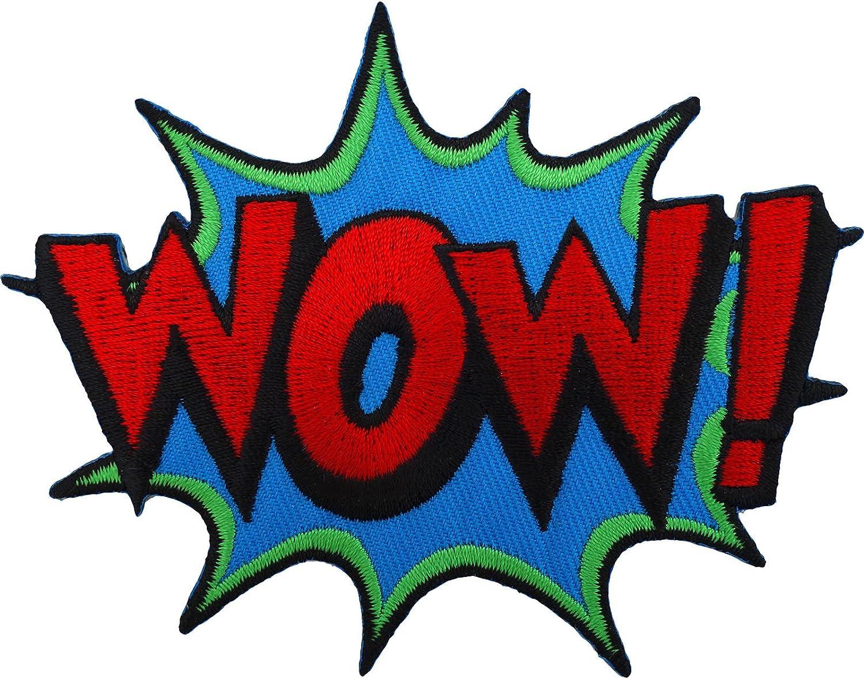 WOW Sew de hierro en parche bordado insignia bolsa Batman Superman Spiderman Comic palabra