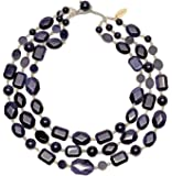 Lola Rose Jenny Blue Sandstone and Grey Agate Necklace of Length 45.5cm