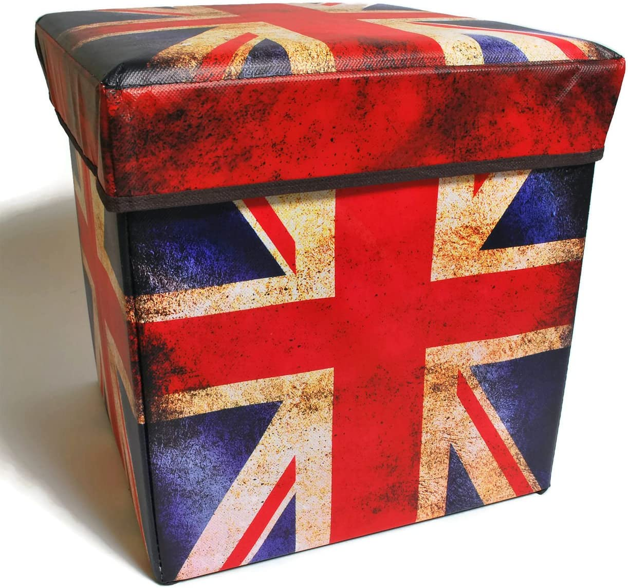 Inymall Home Interior Storage Ottoman British Flag Design