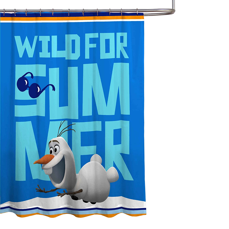 Disney Frozen Olaf 70 x 72 Microfiber Fabric Shower Curtain