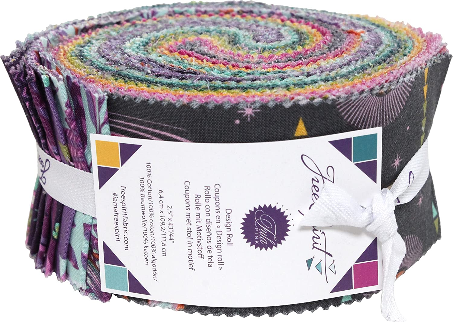 Tula Pink Spirit Animal Design Roll 40 2.5 Inch Strips Jelly Roll Free Spirit by Free Spirit