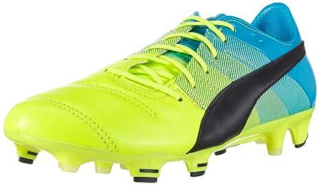 Amazon.com   Puma soccer shoes evoPOWER 1.3 Lth FG Football Men ... c82d3d262e