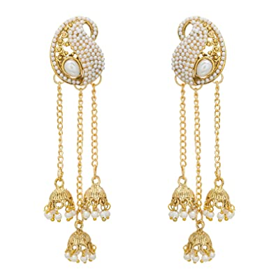 earrings plated dangle line gold drop watch long chain fashion earring