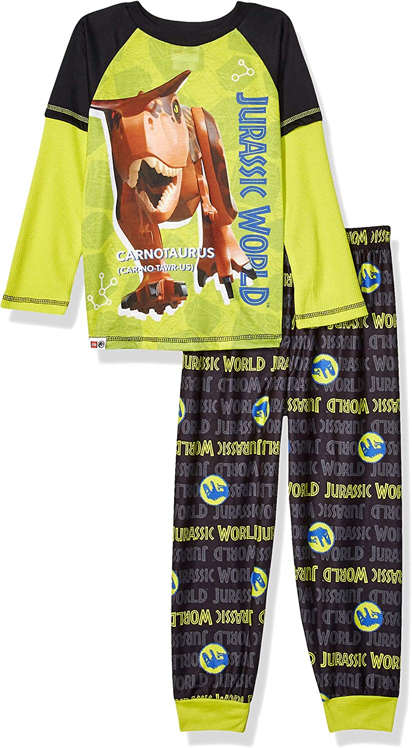 LEGO Jurassic World Boys' 2 Piece PJ Set Long Sleeve Longpant