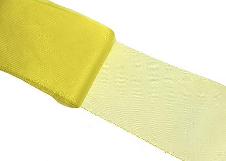 """3 yards  2/"""" Yellow Crinoline Crin Horsehair Braid Trim Millinery Hats"""