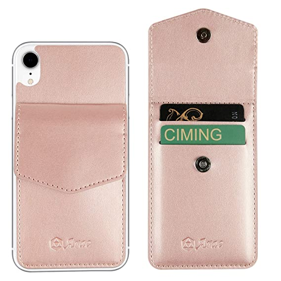 6f6c568fc6c0 Arae Card Holder Wallet for iPhone Xr Ultra-Slim PU Leather Self Adhesive  [2-Slots] ID&Credit Cards Pocket Stick on iPhone Xr 6.1