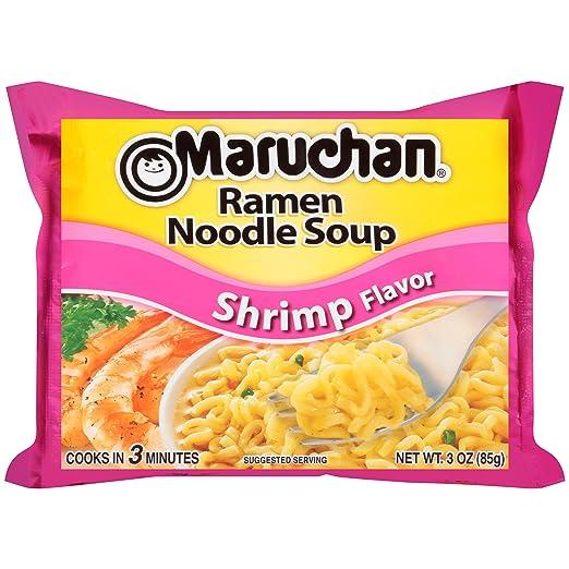 Amazon Com Maruchan Ramen Shrimp 3 0 Oz 24 Count Ramen Noodles