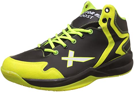 Vector X Boost Basketball Shoes(Black-Green) Basketball Equipments at amazon